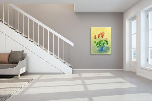 תמונה לחדר מדרגות - רינה יניב - רקפות בכד - מק''ט: 255500