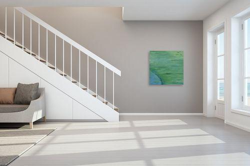 תמונה לחדר מדרגות - אירית שרמן-קיש - ציפורים ברקיע ירוק - מק''ט: 275457