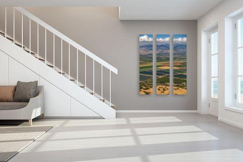 תמונה לחדר מדרגות - מיכאל שמידט - פסיפס של שדות - מק''ט: 276379