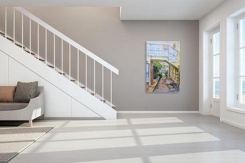 תמונה לחדר מדרגות - חיה וייט - כחול בסימטה - מק''ט: 276920