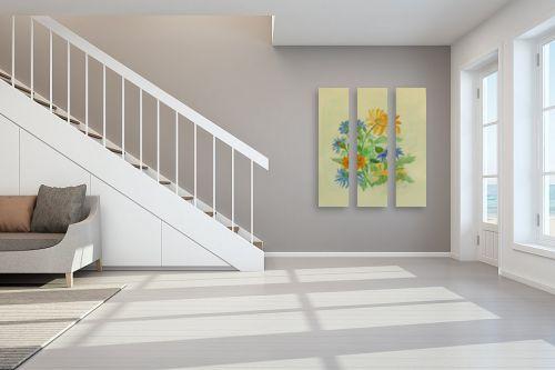 תמונה לחדר מדרגות - רינה יניב - פרחי מרגנית - מק''ט: 277520