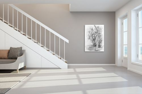 תמונה לחדר מדרגות - רינה יניב - עלי הבמבוק - מק''ט: 277731