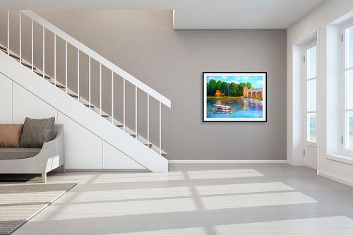 תמונה לחדר מדרגות - אסתר חן-ברזילי - גשר על הנהר - מק''ט: 280874