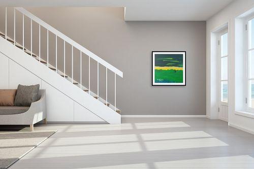 תמונה לחדר מדרגות - ורד אופיר - שדה ירוק - מק''ט: 280899