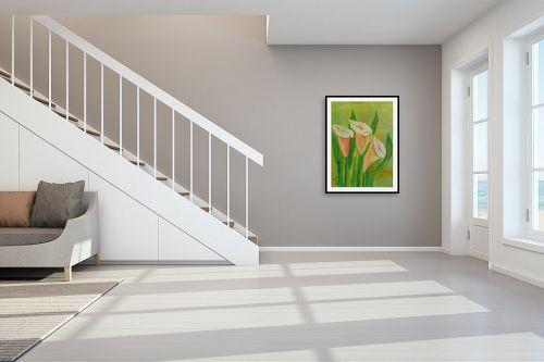 תמונה לחדר מדרגות - רינה יניב - פרחי קאלות - מק''ט: 285640