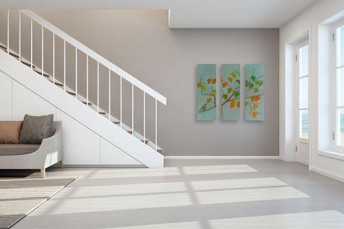 תמונה לחדר מדרגות - רינה יניב - ציוץ הציפורים - מק''ט: 285643