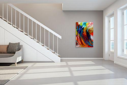 תמונה לחדר מדרגות - אסתר חן-ברזילי - סימפוניה בצבעים - מק''ט: 286351