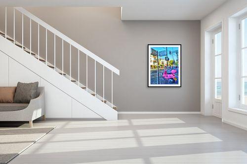 תמונה לחדר מדרגות - מתן הירש - דיזנגוף ירמיהו והאופנוע - מק''ט: 286687
