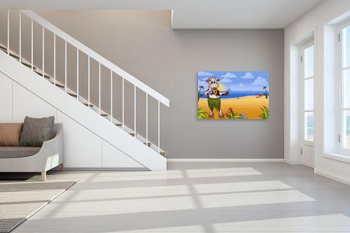 תמונה לחדר מדרגות - חנן אביסף - בלה הפרה בחוף של הוואי - מק''ט: 287914