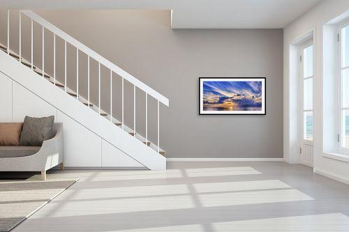 תמונה לחדר מדרגות - DnD Production - כתום ואדום - מק''ט: 289235
