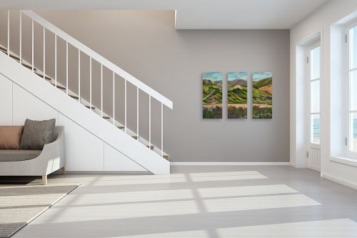 תמונה לחדר מדרגות - רוחלה פליישר - סוסים בשטח - מק''ט: 290416