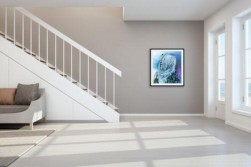 תמונה לחדר מדרגות - דוד סלע - These Eyes  - מק''ט: 291341