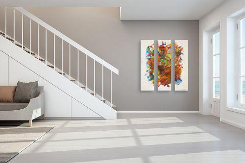 תמונה לחדר מדרגות - חיים מחט - זר פרחים - מק''ט: 291801