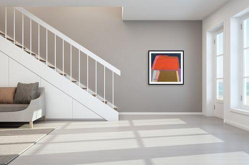תמונה לחדר מדרגות - ורד אופיר - שלל צבעים - מק''ט: 292840