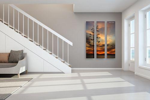 תמונה לחדר מדרגות - איזבלה אלקבץ - עץ ושקיעה - מק''ט: 293691