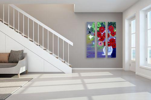 תמונה לחדר מדרגות - ורד אופיר - אגרטל ציפורים - מק''ט: 302062