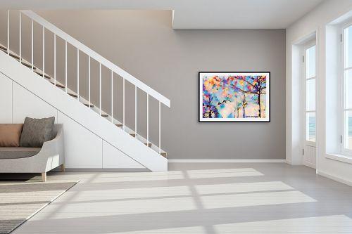 תמונה לחדר מדרגות - ציפי נוימן - טבע אבסטרקטי - מק''ט: 302740