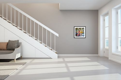 תמונה לחדר מדרגות - בן רוטמן - במטרו בפריז - מק''ט: 302902