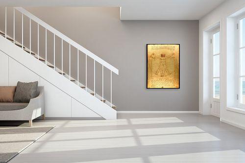 תמונה לחדר מדרגות - לאונרדו דה וינצי - האדם הוויטרובי - מק''ט: 303470