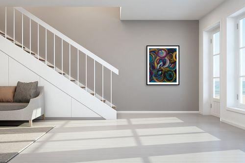 תמונה לחדר מדרגות - אסתר חן-ברזילי - גלקסיות - מק''ט: 306101