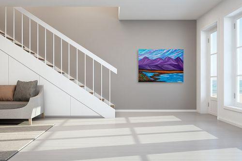 תמונה לחדר מדרגות - אסתר חן-ברזילי - נוף הררי - מק''ט: 306121