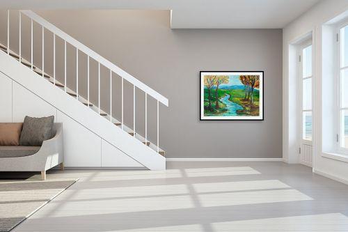 תמונה לחדר מדרגות - אסתר חן-ברזילי - נוף ישראלי - מק''ט: 306205