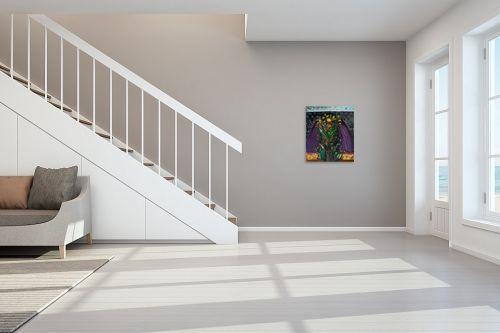 תמונה לחדר מדרגות - אסתר חן-ברזילי - שער הפרחים - מק''ט: 306281