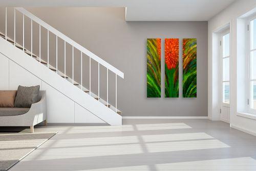 תמונה לחדר מדרגות - אסתר חן-ברזילי - פריחה בכתום - מק''ט: 308672