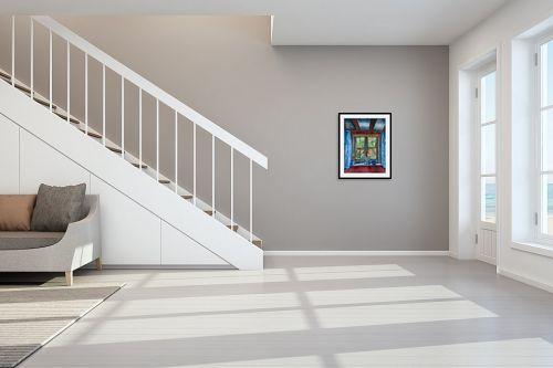 תמונה לחדר מדרגות - חיה וייט - זכרון - מק''ט: 309005