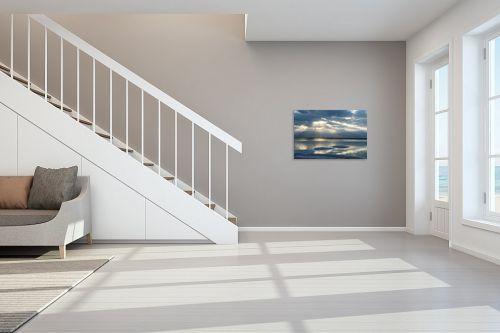 תמונה לחדר מדרגות - ארי בלטינשטר - זריחה בכחול - מק''ט: 309573