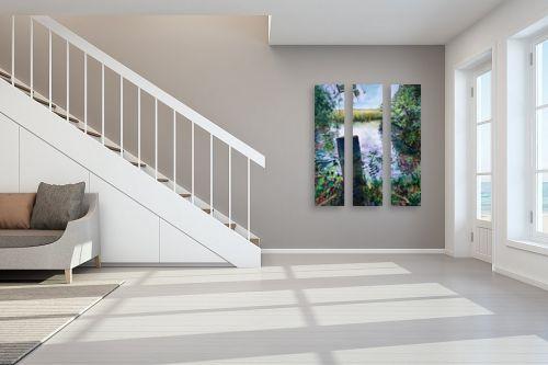 תמונה לחדר מדרגות - חיה וייט - גאות - מק''ט: 309642