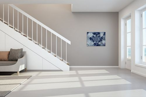 תמונה לחדר מדרגות - רעיה גרינברג - מנדלה בכחול - מק''ט: 312167