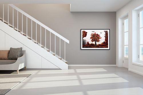תמונה לחדר מדרגות - אורי רדלר - עלי שלכת - מק''ט: 313500