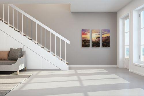 תמונה לחדר מדרגות - דיאנה אורן - זריחה צבעונית - מק''ט: 315952