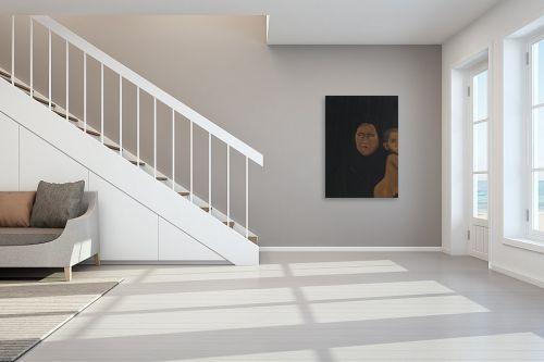 תמונה לחדר מדרגות - אסתר טל - דמות בשחור 1 - מק''ט: 316218