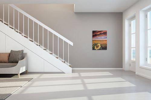 תמונה לחדר מדרגות - דיאנה אורן - חמניה - מק''ט: 316284