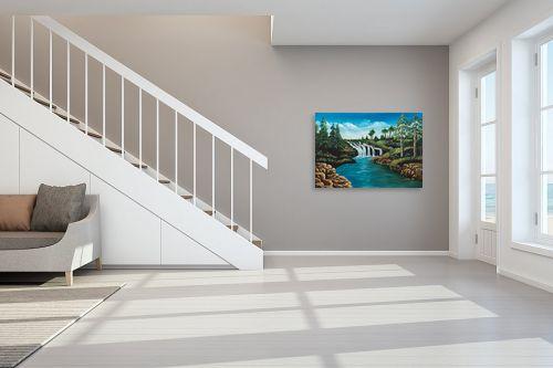 תמונה לחדר מדרגות - מזל בוכריס - מפל - מק''ט: 316341