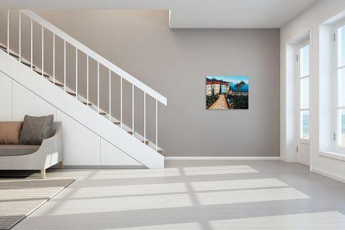 תמונה לחדר מדרגות - מזל בוכריס - עיירה באיטליה - מק''ט: 316369