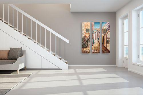 תמונה לחדר מדרגות - מזל בוכריס - אבני ירושלים - מק''ט: 316451