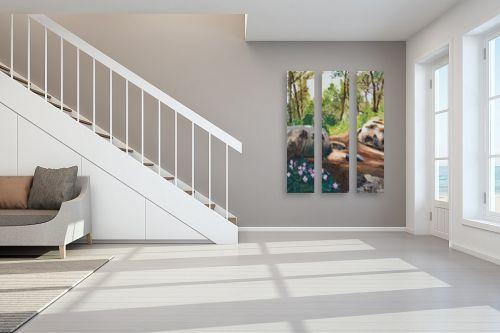 תמונה לחדר מדרגות - אסתר טל - רקפות - מק''ט: 316557