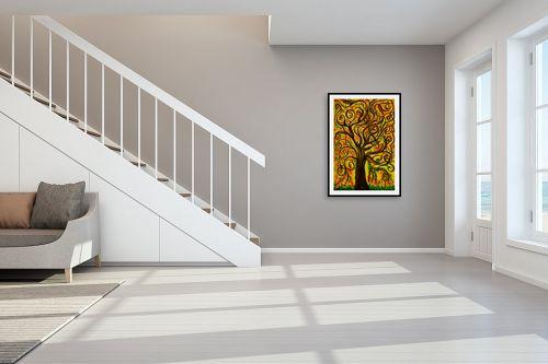 תמונה לחדר מדרגות - אסתר חן-ברזילי - עץ מסולסל - מק''ט: 317250