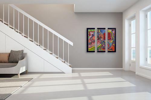 תמונה לחדר מדרגות - חיים מחט - שבילים צבעוניים - מק''ט: 317386