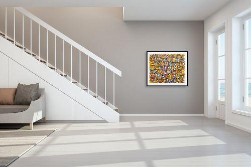 תמונה לחדר מדרגות - בן רוטמן - הפגנה - מק''ט: 318907
