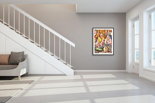 תמונה לחדר מדרגות - בן רוטמן - מוכרות בשוק - מק''ט: 319525