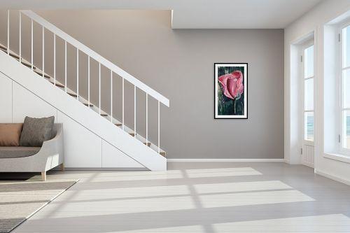 תמונה לחדר מדרגות - Red סטודיו - ורד צנוע - מק''ט: 319914