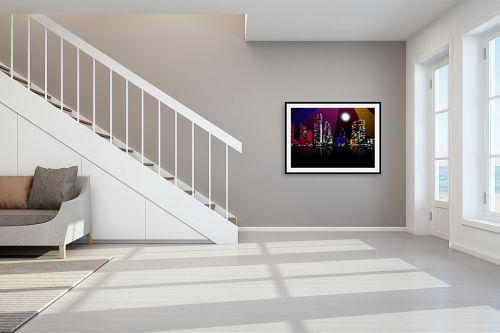 תמונה לחדר מדרגות - Red סטודיו - צבע הלילה - מק''ט: 319935