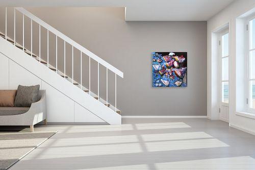 תמונה לחדר מדרגות - אילה ארויו - אבסקרקט פרחים - מק''ט: 320252