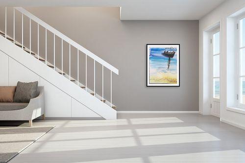תמונה לחדר מדרגות - אילה ארויו - סירה בים - מק''ט: 320526