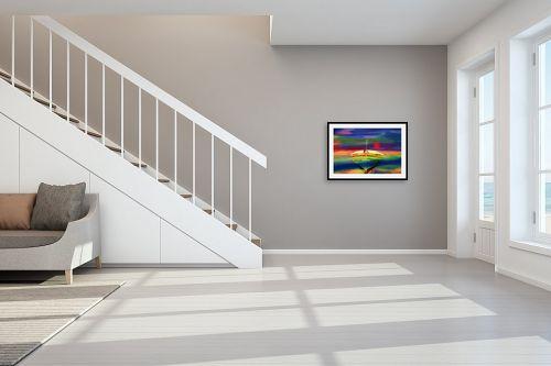 תמונה לחדר מדרגות - אורית גפני - ארץ רחוקה - מק''ט: 320968