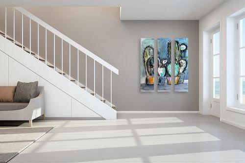 תמונה לחדר מדרגות - חני שפר - קקטוסים - מק''ט: 325522